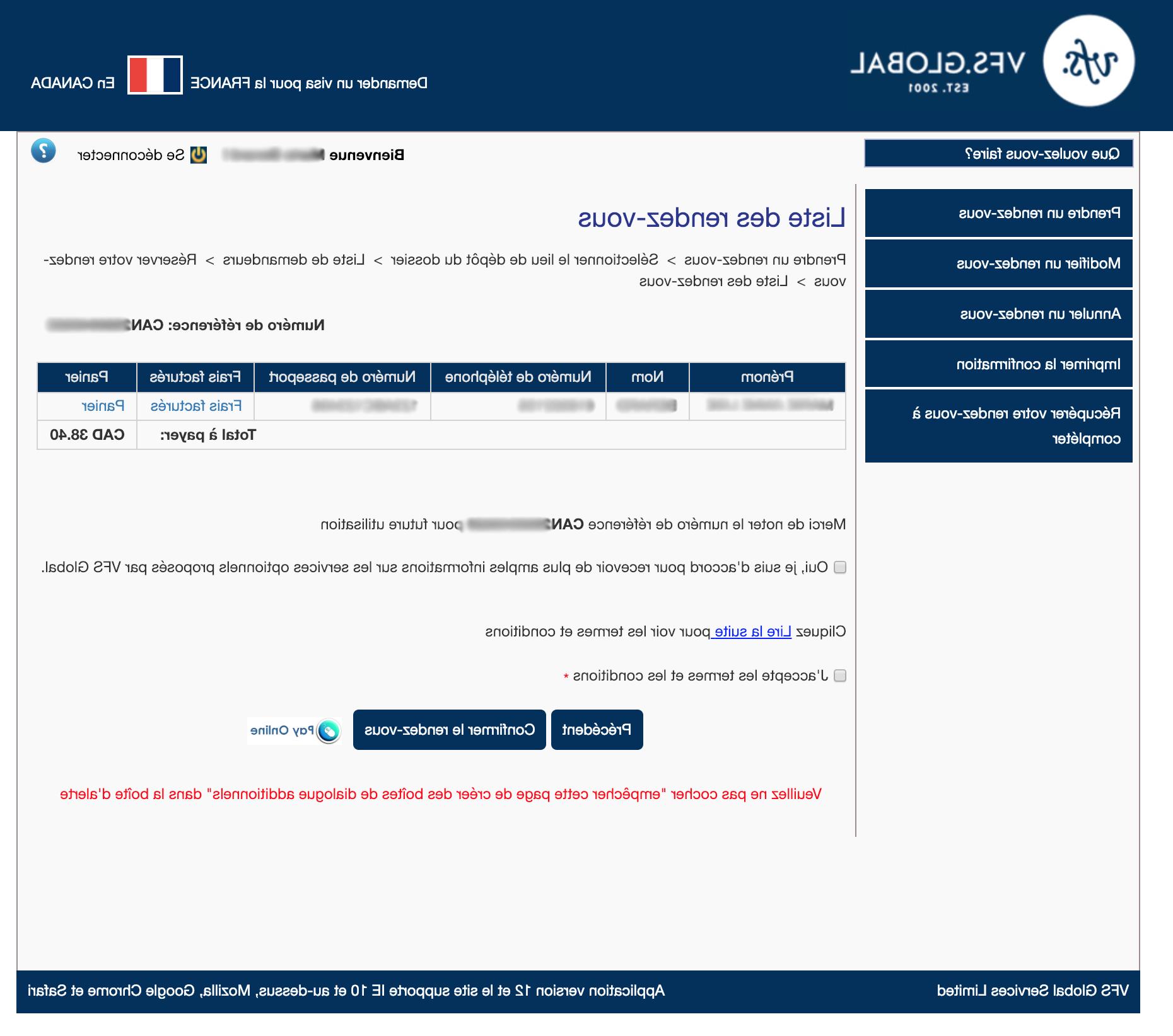 Comment prendre rendez-vous pour VFS Global France?