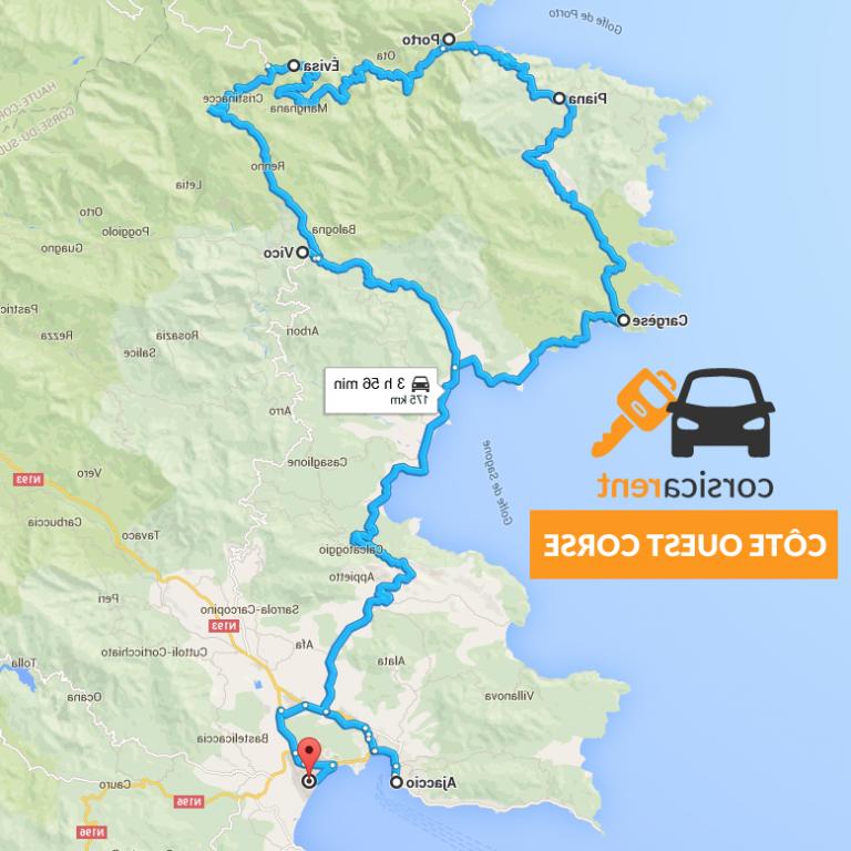Comment visiter la Corse en voiture ?