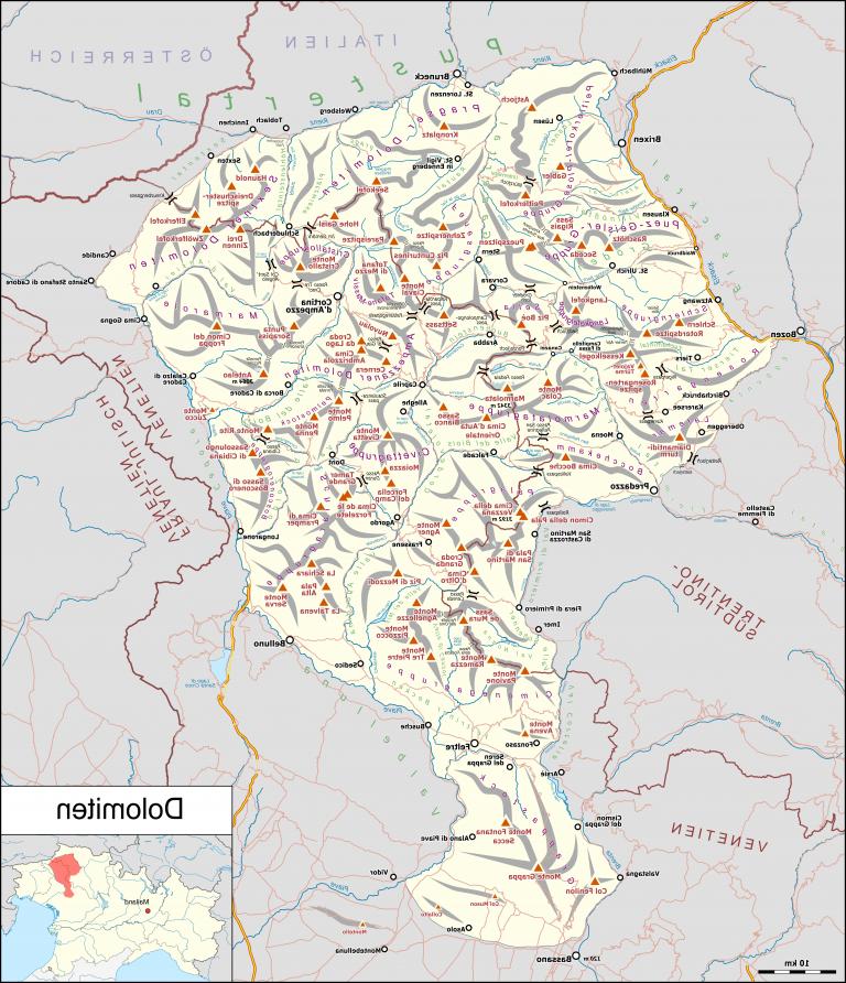 Où commence les Dolomites ?