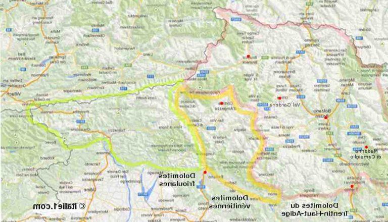 Où se situe les Dolomites en Italie ?
