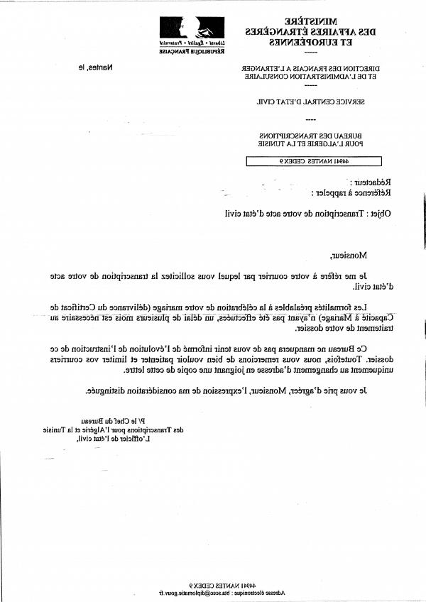Quel document pour un visa conjoint français ?